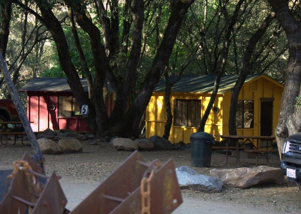Cabins at roaring Camp