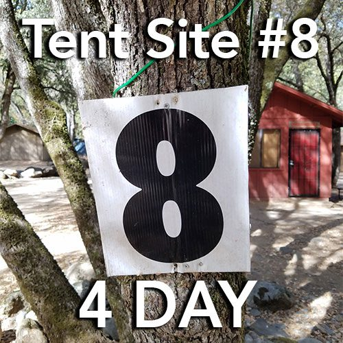tent site 8 four day