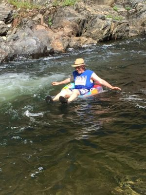 Tubing in the Mokelumne River