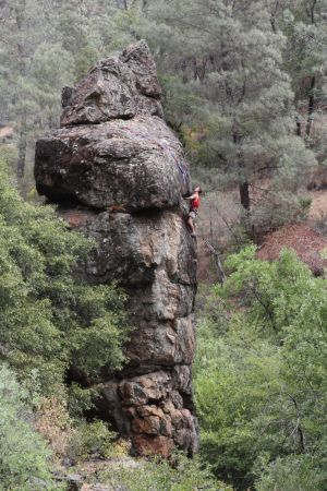 Rock climbing along the Mokelumne River